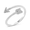 Diamond Double Curve Ring