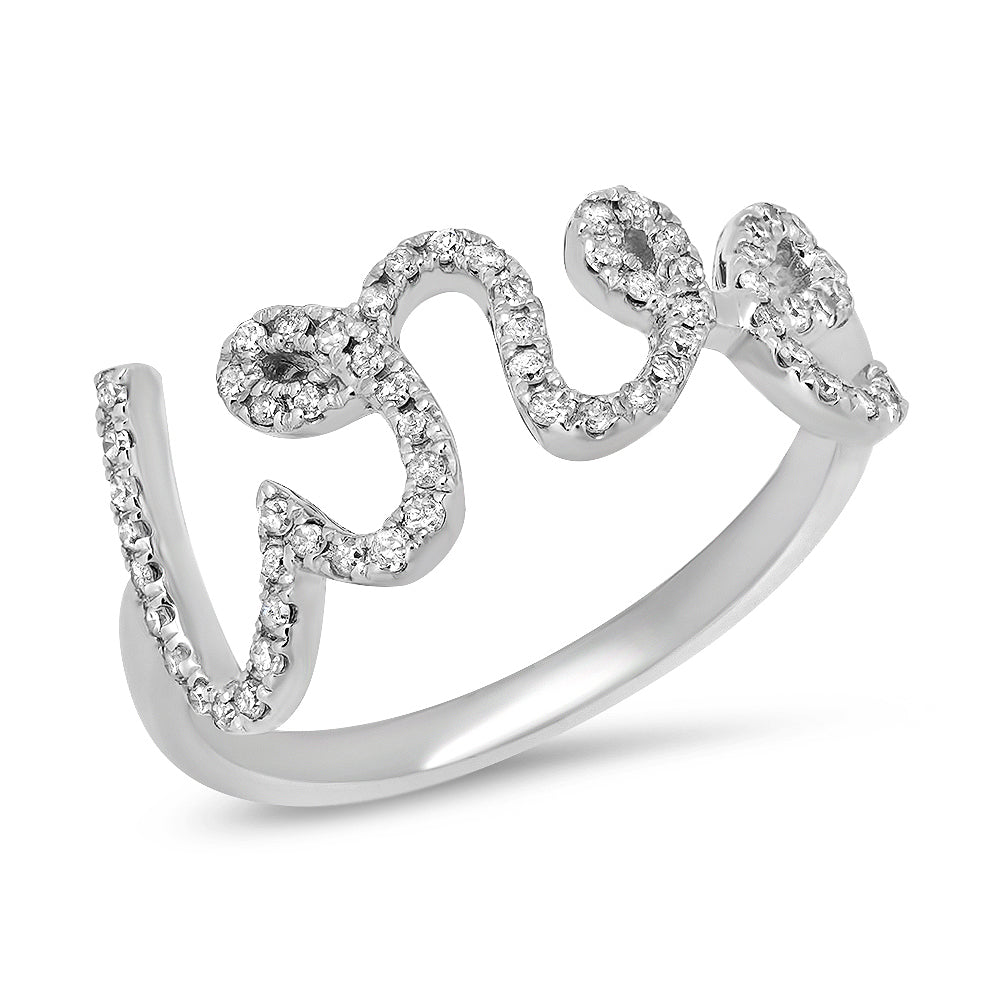 Large Script Love Ring