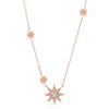 Multi Starburst Diamond Necklace