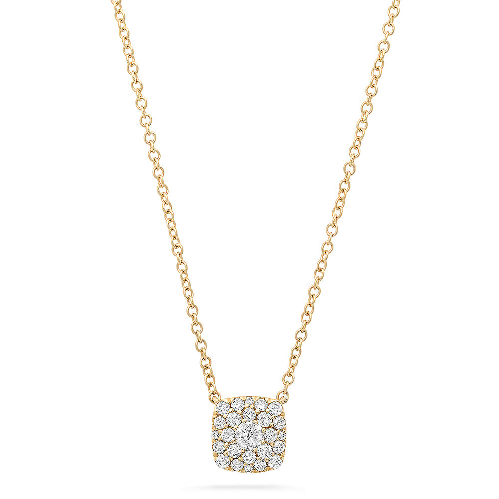 Diamond .25ct Square Necklace
