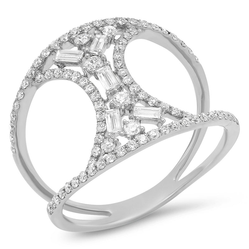 Diamond Baguette Hourglass Ring