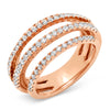 Diamond Multi 5 Banded Ring
