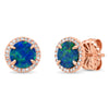 color stone stud earrings with diamonds