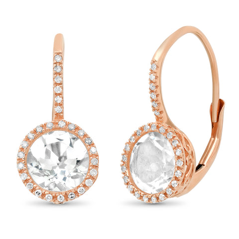 Diamond Droplet Open Hoop Earring
