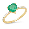 emerald green ring real