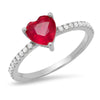 Heart Shape Diamond Ruby Ring