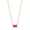 Heart Shape Ruby Necklace