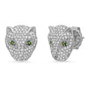 Emerald and Diamond Jaguar Stud