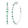 Studded Emerald Hoop