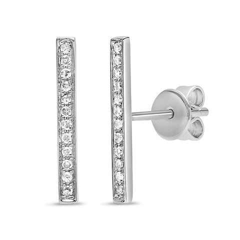 Triple Row Diamond Cuff Earring (No Piercing)