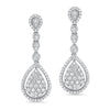 Diamond Wrap Leaf Earring
