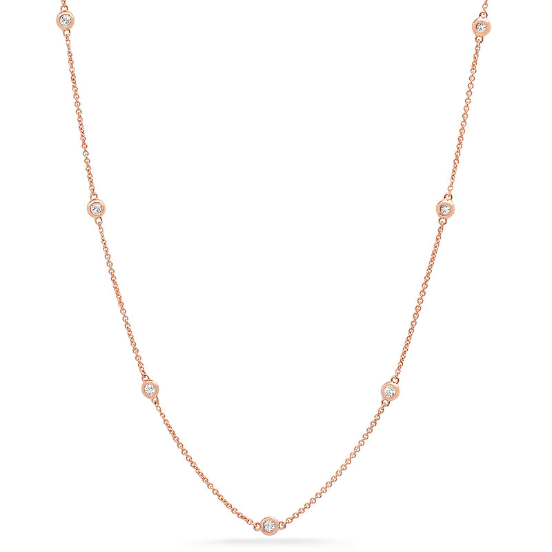 diamonds on chain necklace real 14k gold
