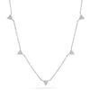 14k solid gold genuine diamond triangle necklace