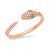 14k rose gold snake serpent diamond ring anne sisteron