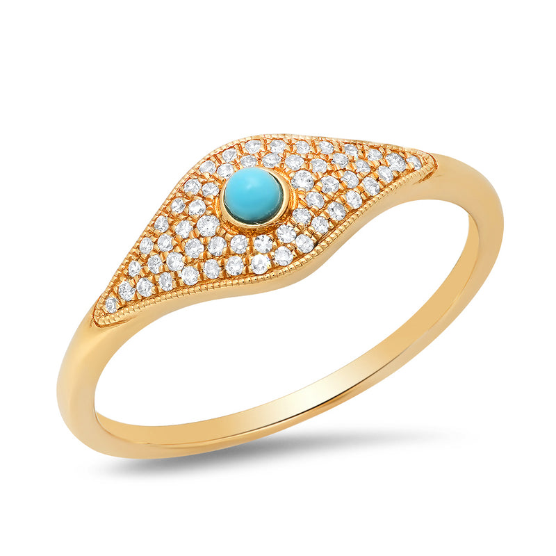 anne sisteron evil eye ring