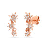 diamond star stud earring rose gold