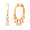 Jacquie Aiche huggie droplet shaker hoop dangle earring