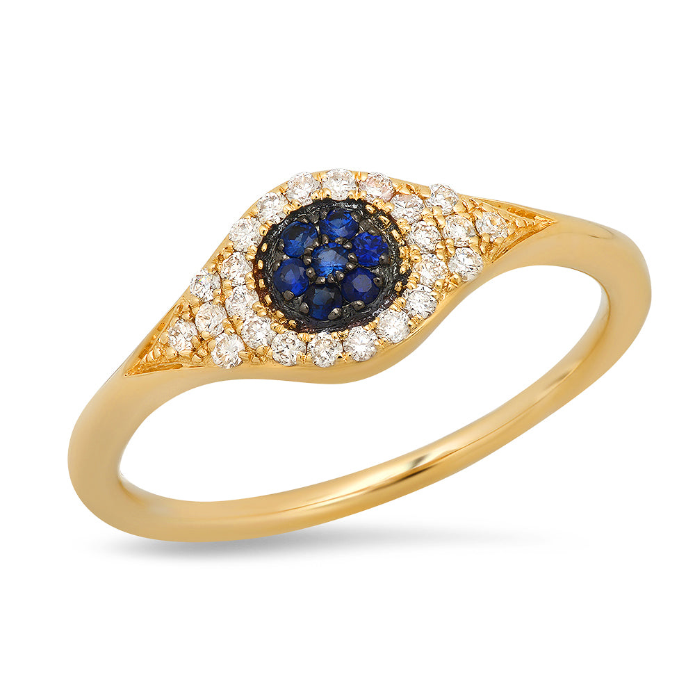 ef collection evil eye hamsa protection ring