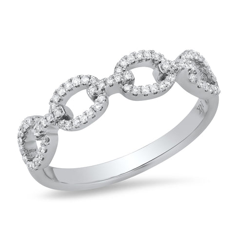 Diamond Butterfly Stacking Ring