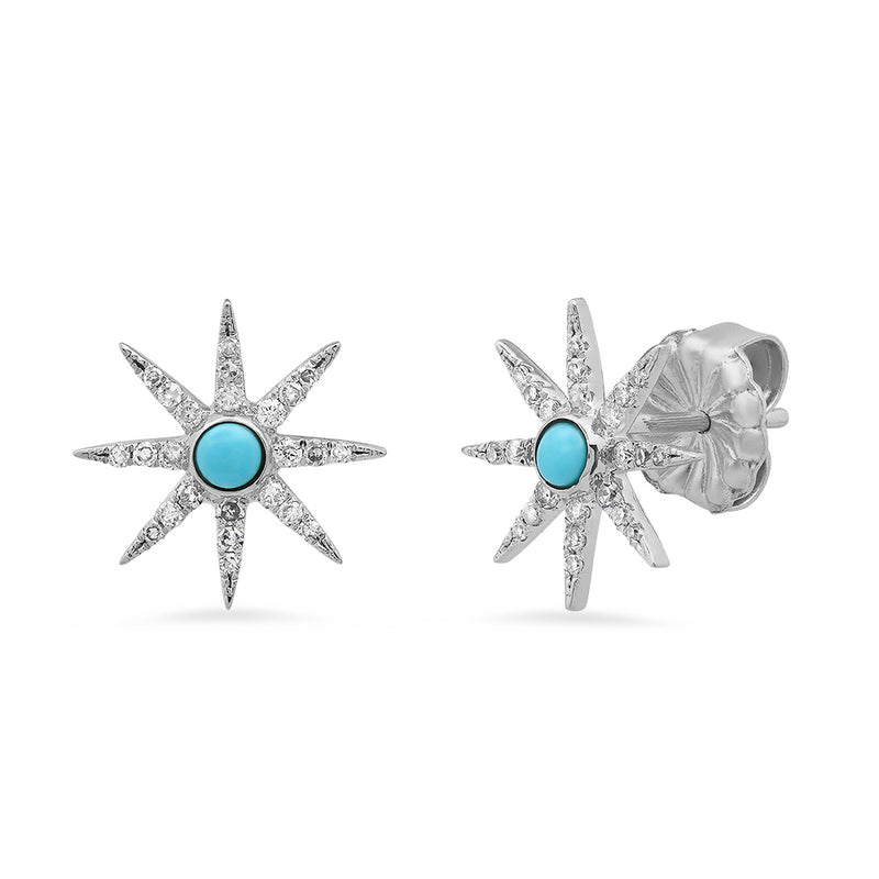 jennifer meyers stud star earring turquoise