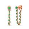 Emerald Speckled Threader Earring