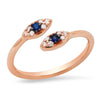 rose gold sydney evans evil eye ring