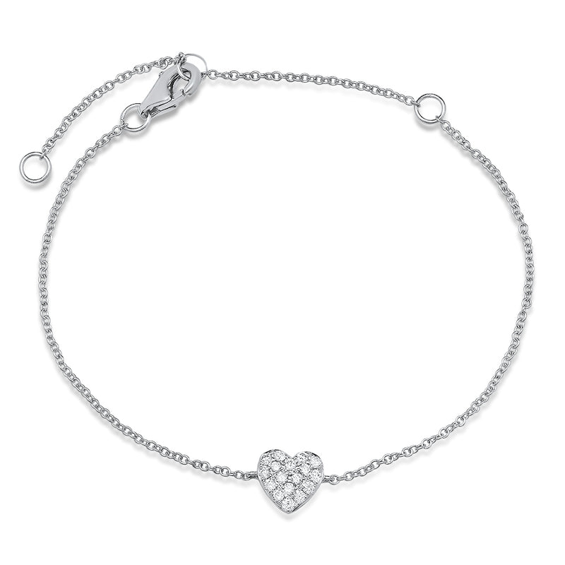 ef collection diamond heart chain bracelet