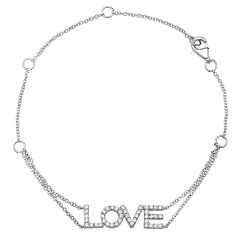 Diamond Heartbeat Double Chain Bracelet