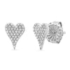 heart stud earring diamond stephanie gottlieb