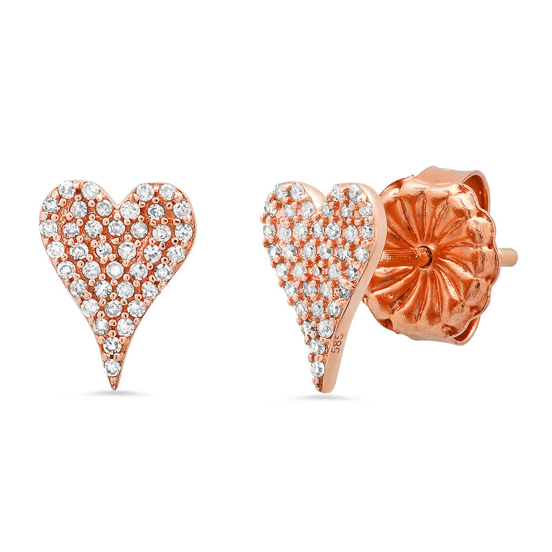 mini signature heart stud earring