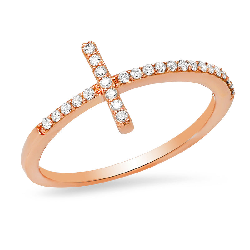 indiana massara cross ring 14k gold and diamonds