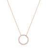 14k rose gold infinity necklace with diamonds