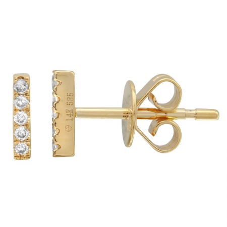 Mini Diamond Bar Stud
