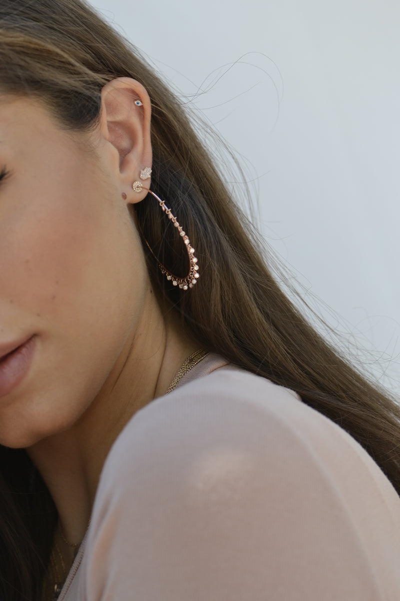 rose gold shaker hoop earring