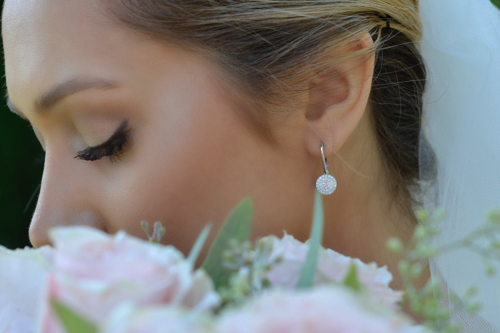 diamond real bridal earrings drop