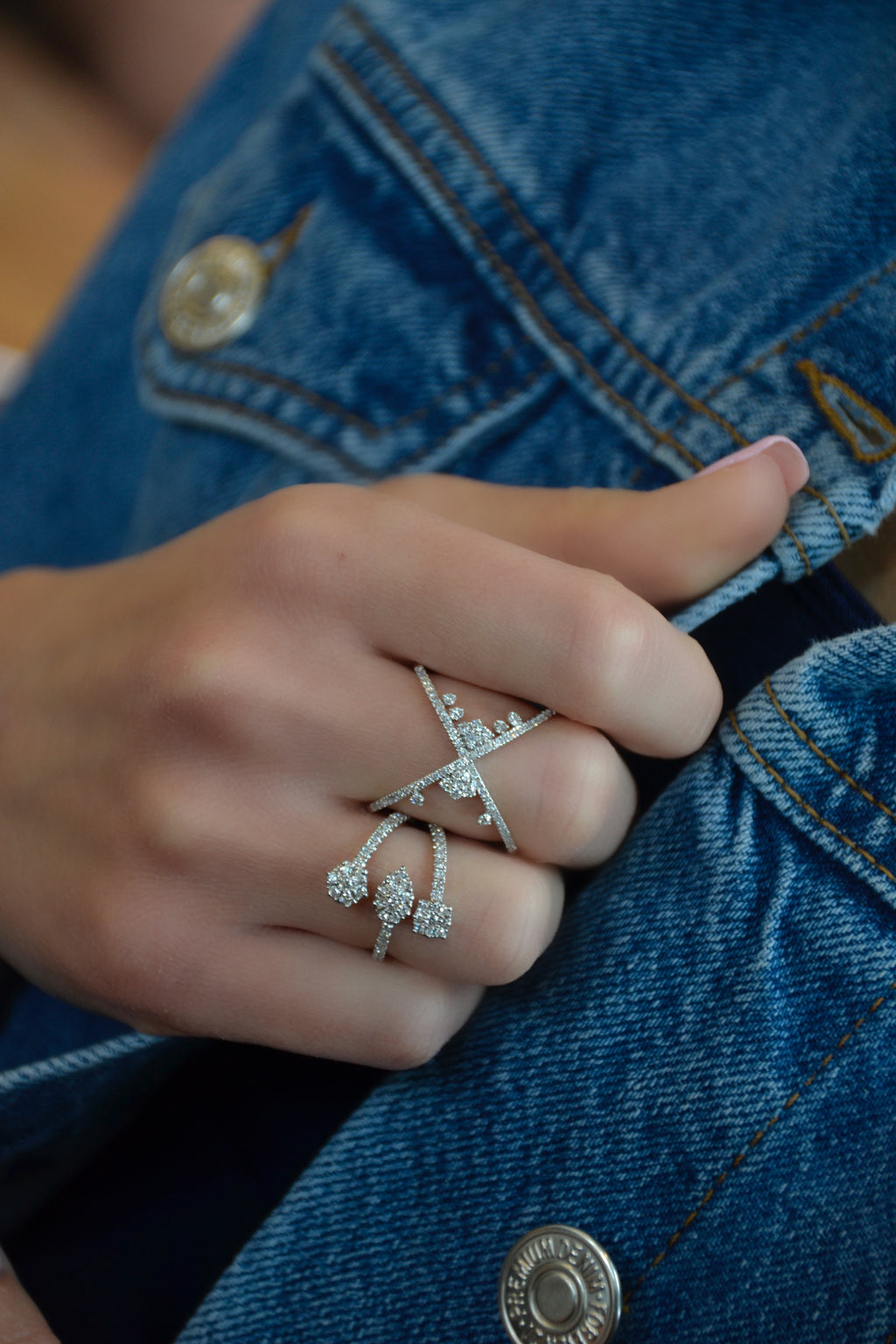 Cluster Diamond X Ring