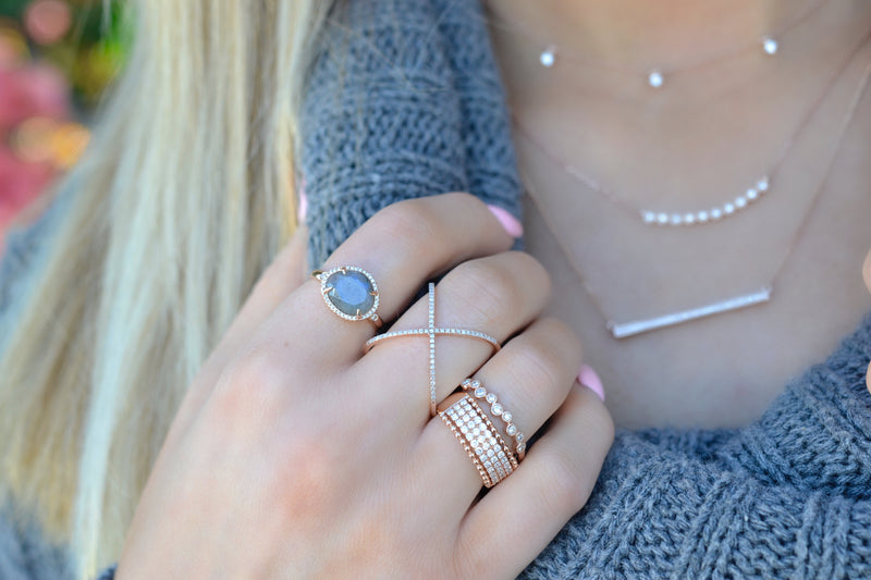 Stackable Bubble Band Ring