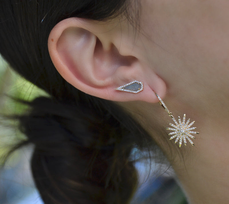Diamond Starburst Earring