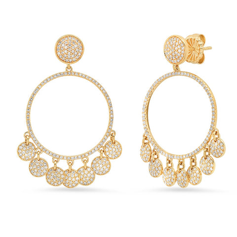 Geometric Shape Huggy Earring