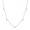 5 Mini Chevron Diamond Necklace