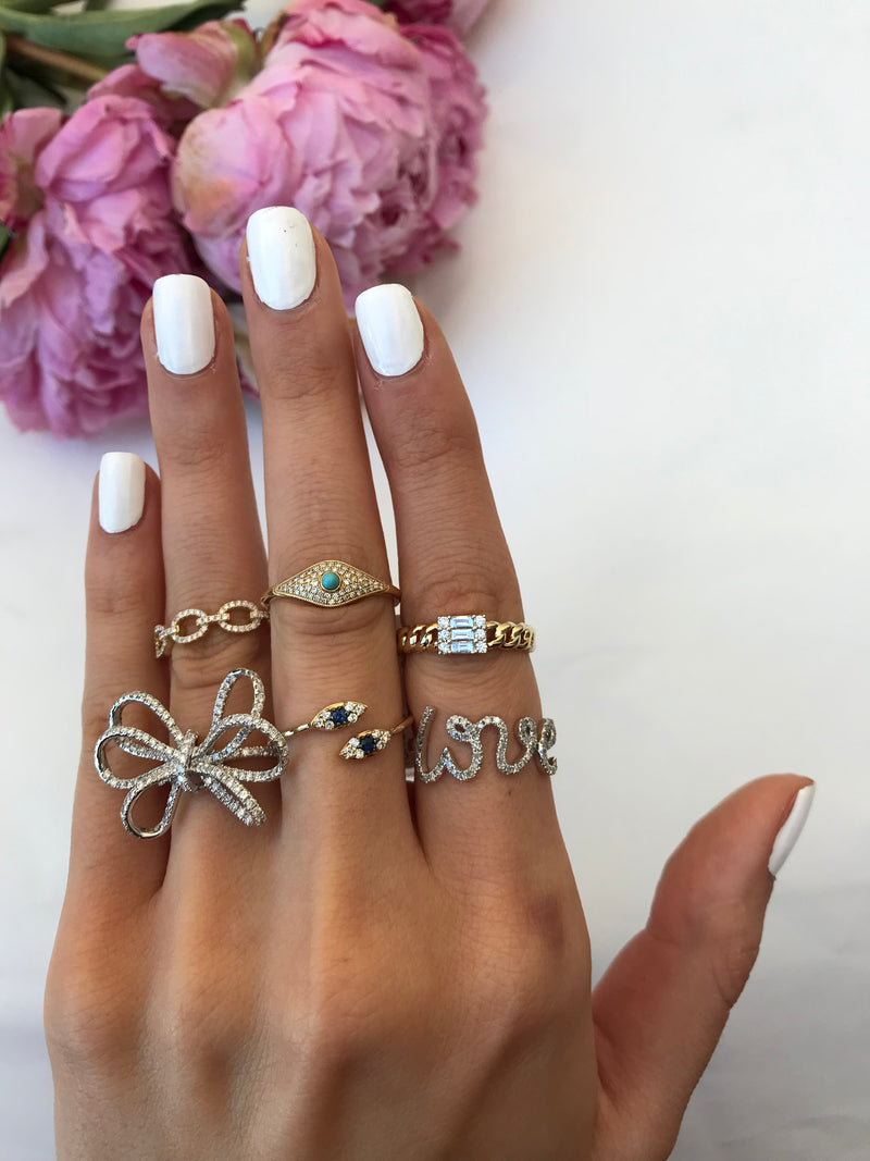diamond stacking rings dainty