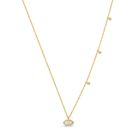 5 Heart Diamond Necklace