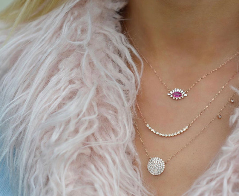 rose gold dainty layering necklaces