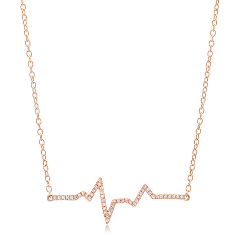 Diamond V Lariat Necklace