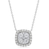 Diamond Cushion Necklace