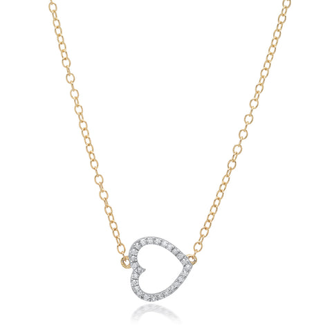 Diamond Bezel Curve Bar Necklace