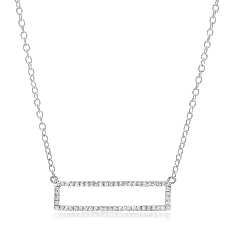 Mini Rectangle Diamond Necklace