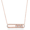 Emerald Cut Ruby Necklace