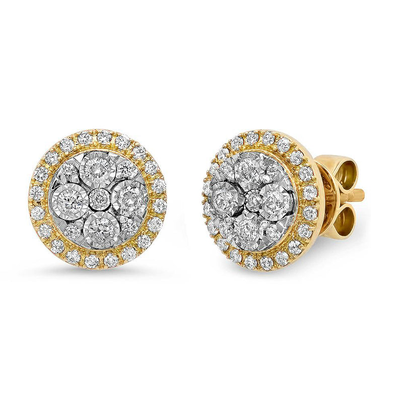 Round Diamond Stud