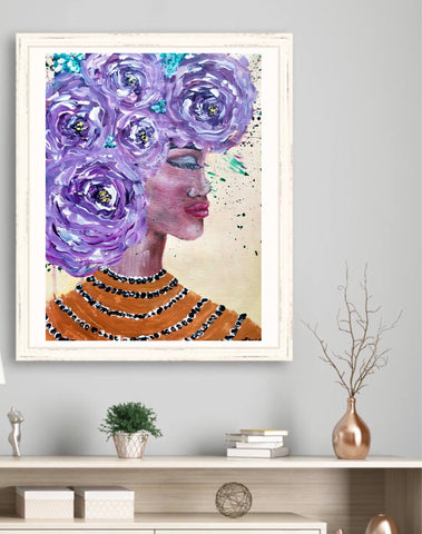 """African Violet"" Original Painting"